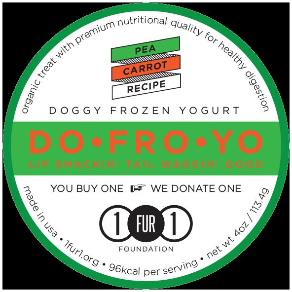 Doggy Frozen Yogurt Pea Carrot Recipe