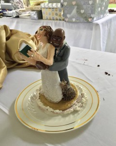 This was the cake topper at my wedding. Note our cat Buu bottom right!
